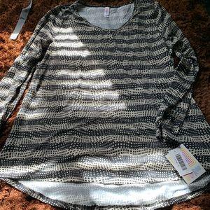 NWT Lularoe Stone Black Box Pattern Lynnae XL